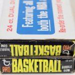Unopened dual wax box 1971-72 Topps basketball