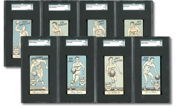 Complete 1950-51 Scotts Lakers card set