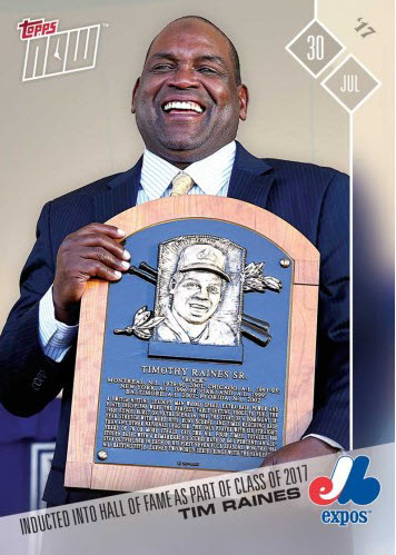 2017 Topps NOW Tim Raines Hall of Fame Expos