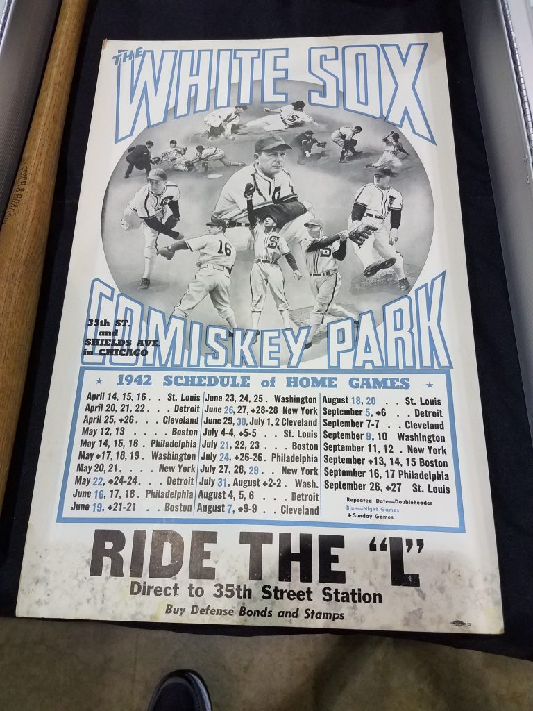 White Sox 1942 poster schedule advertising