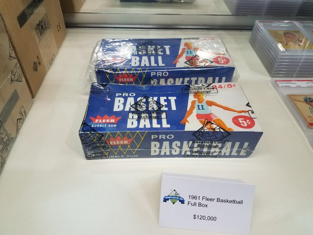 Fleer basketball unopened box 1961