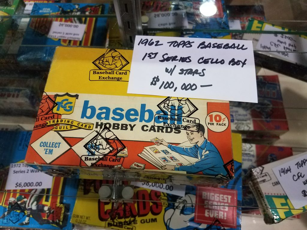 Unopened 1962 Topps cello pack box