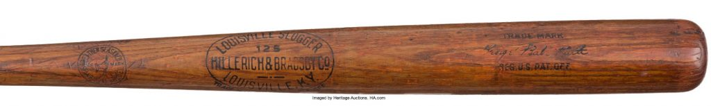Babe Ruth 1920 game used bat