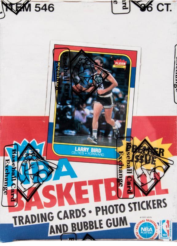 Fleer basketball wax box 1986