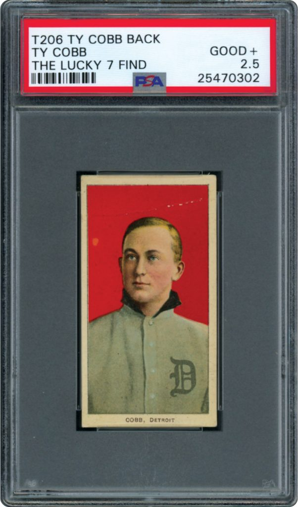 T206 Ty Cobb back Lucky 7 Find PSA 2.5