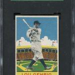 Lou Gehrig 1933 DeLong card PSA 8