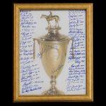 Autographed Kentucky Derby poster 55 autographs