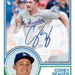 Corey Seager 1983 Topps design 2018 baseball card