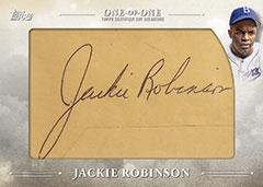 2018 Topps cut signature Jackie Robinson