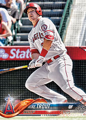 Mike Trout 2018 Topps baseball card