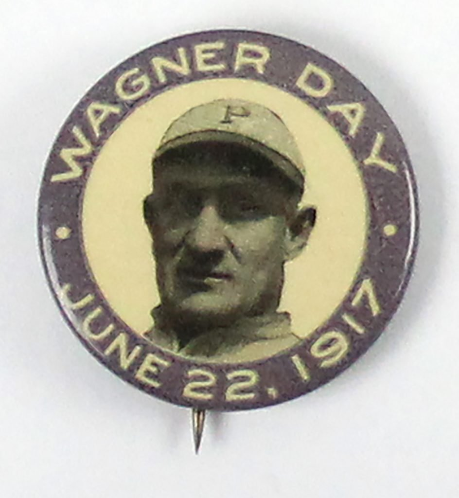 1917 Honus Wagner Day button