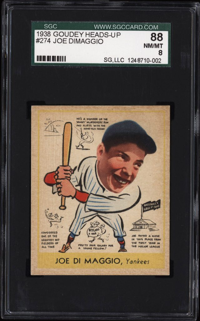 Joe DiMaggio rookie card 1938