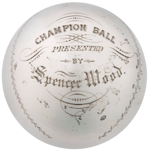 1867 trophy ball Liberty Baseball Club Nyack NY