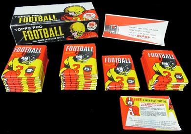 Topps 1958 football box