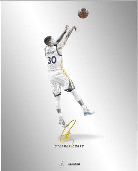 Autographed Steph Curry 16x20