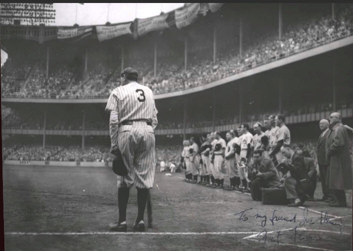 Babe Bows Out 1948 Nat Fein photo