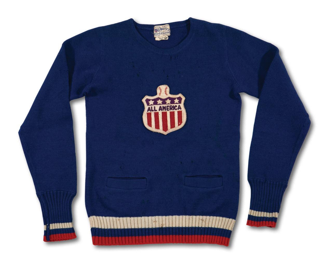 1938 All American Baseball Board sweater