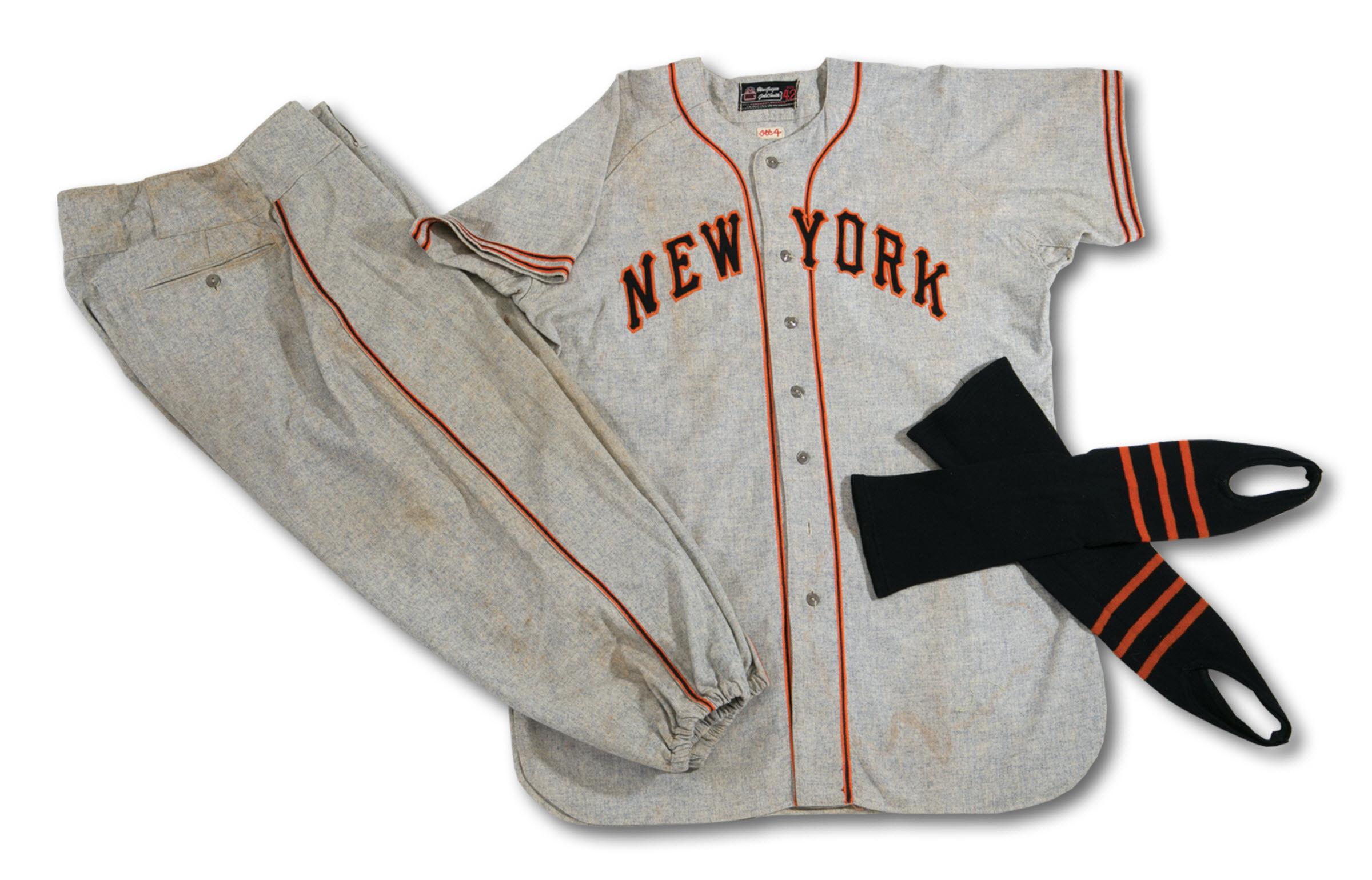 1948 New York Giants Mel Ott game worn uniform