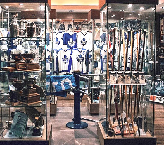 Ultimate Leafs fan collection game jerseys sticks