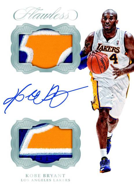 Kobe Bryant Panini dual patch autographed card