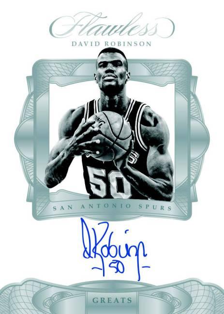2016-17 Panini Flawless Greats David Robinson autographed card