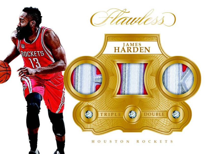 James Harden Triple Double relic card 2016-17 Flawless