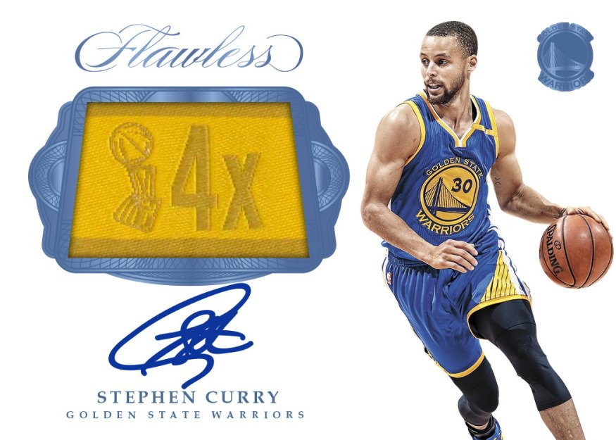 Steph Curry autograph 2016-17 Flawless championship tag card