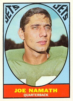 Joe Namath 1967 Topps
