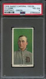 Ty Cobb T206 green portrait