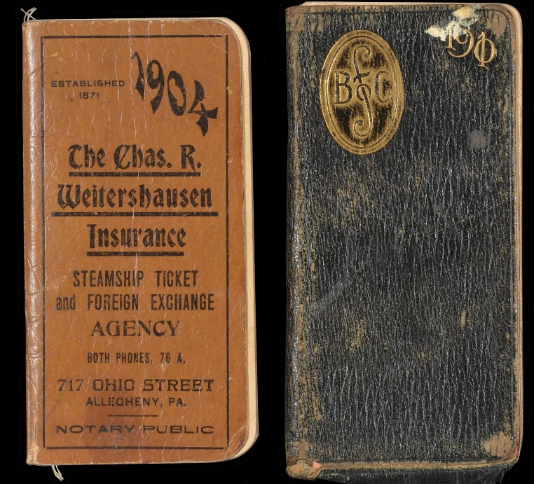 Appointment book 1904 1910 Honus Wagner