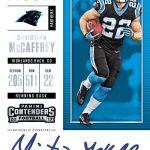 Christian McCaffrey rookie card Contenders Rookie Ticket autograph