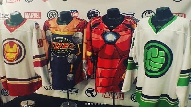 Marvel ECHL game jerseys