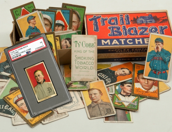 tobacco baseball cards matchbox find SCP Auctions