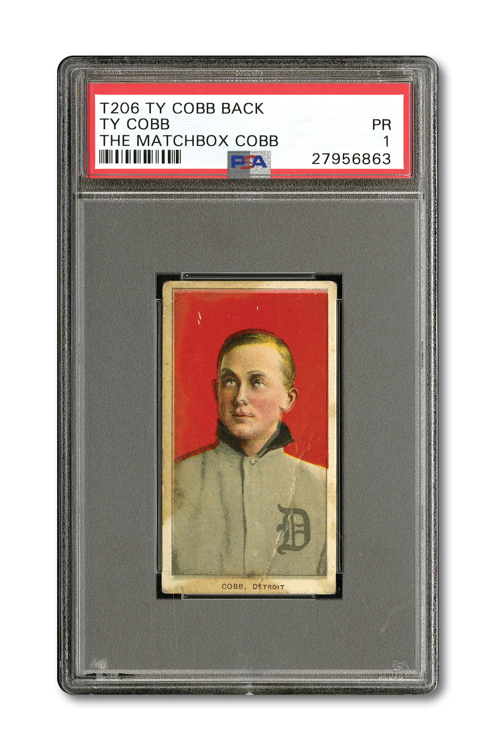 Ty Cobb T206 Cobb back SCP Auctions Georgia find