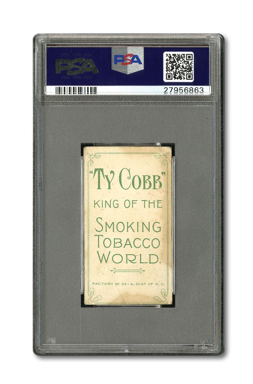 Ty Cobb King Smoking World back T206