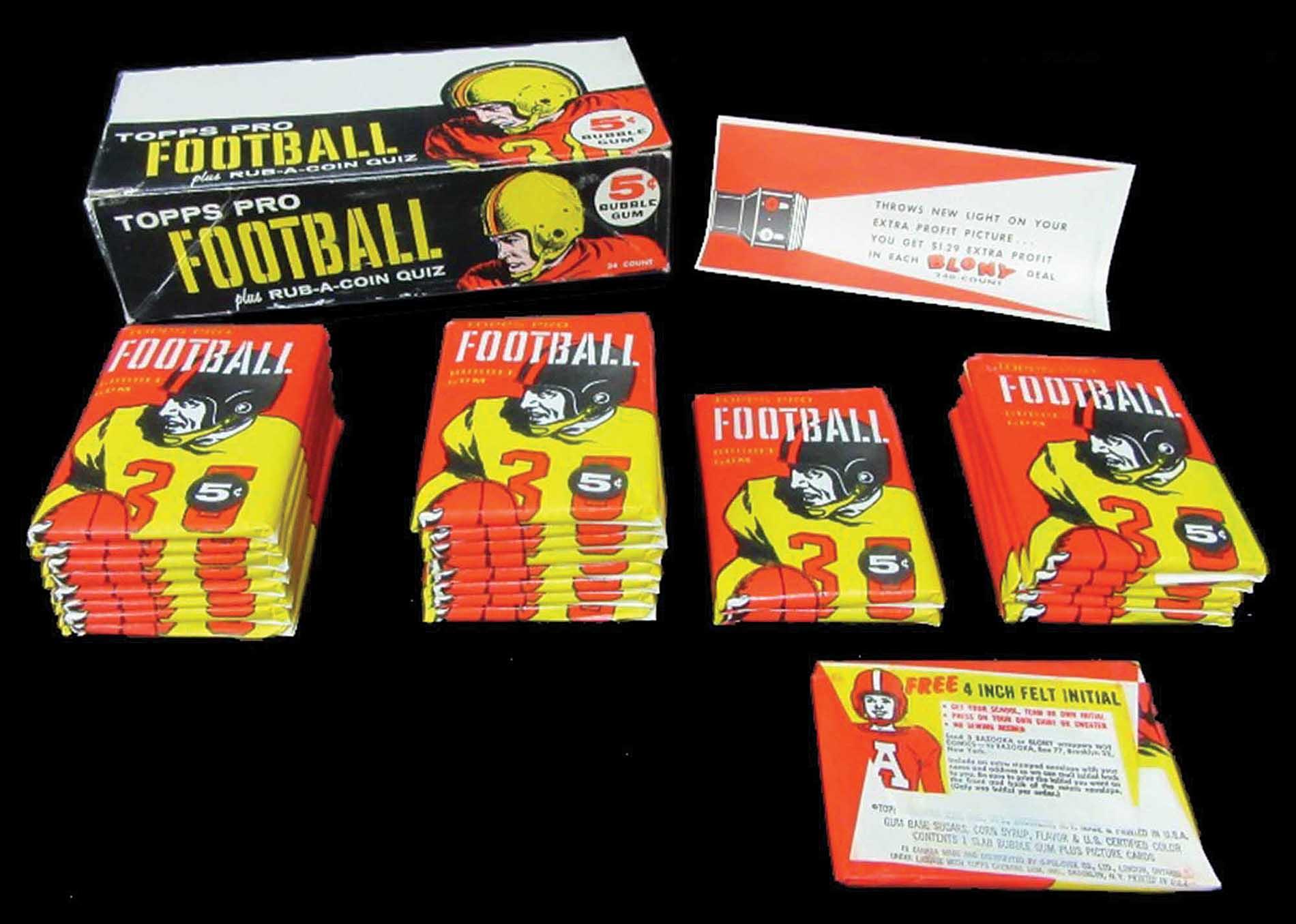 Topps 1958 football box packs