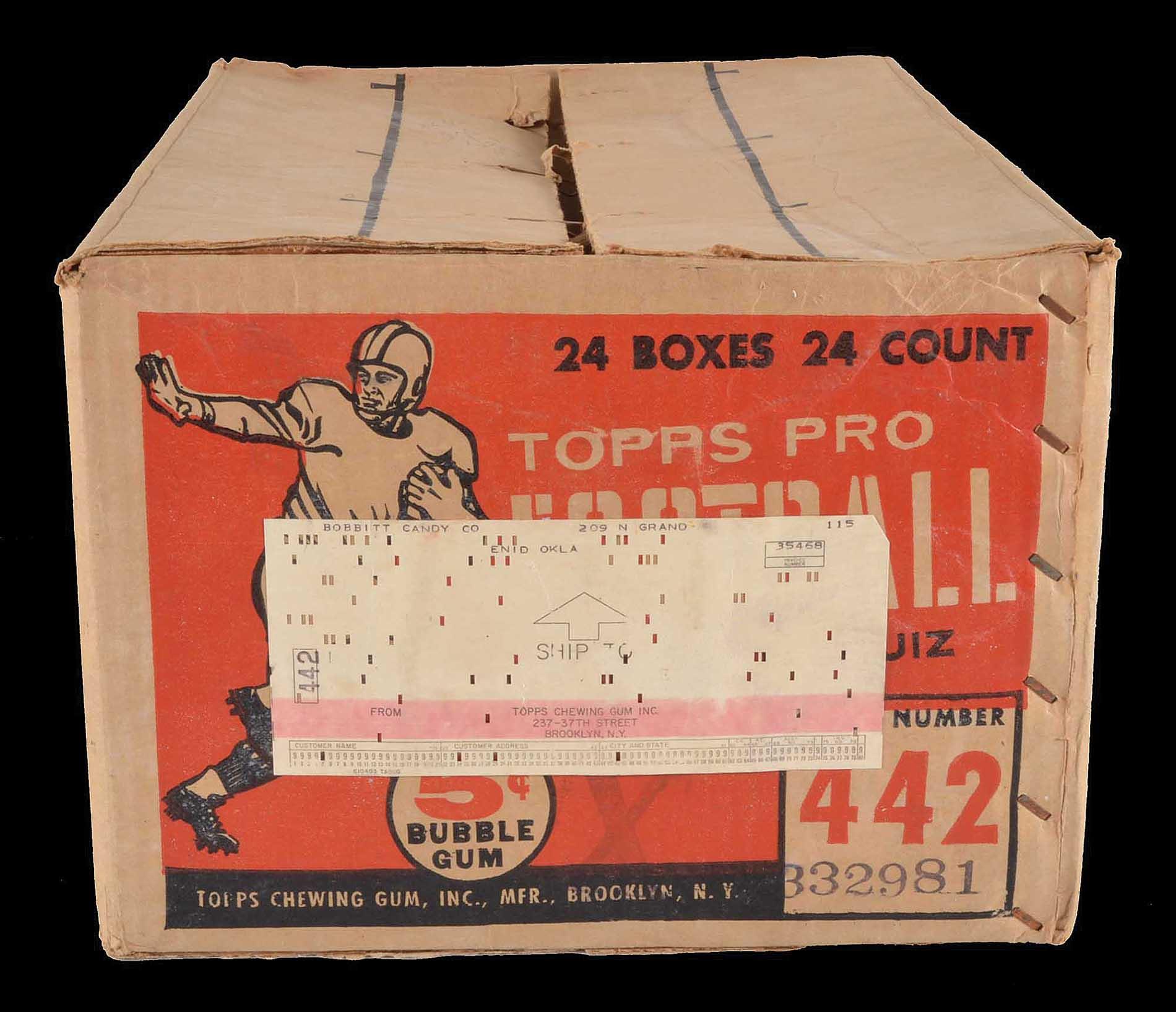 Case 1958 Topps football