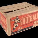 Outer case 1958 Topps football cards