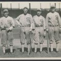 Chicago Black Sox infield 1919