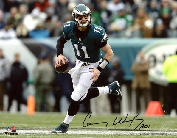Signed Carson Wentz photo