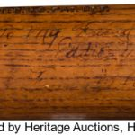 Inscribed Babe Ruth signed bat Eddie Maier