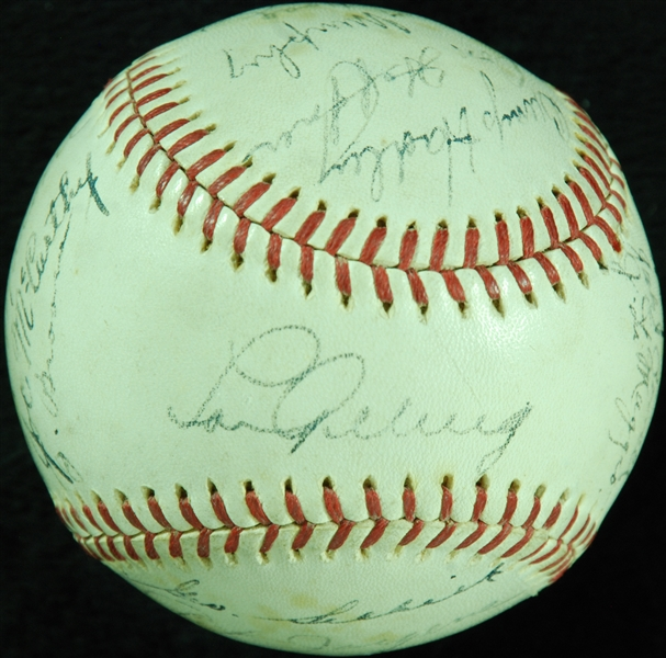 Autographed 1936 Yankees ball