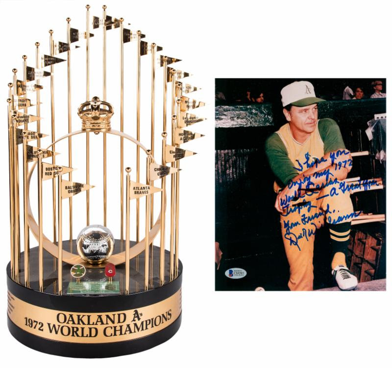 Dick Williams 1972 World Series trophy