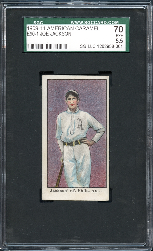 American Caramel Joe Jackson rookie card SGC 70