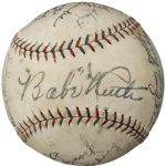 Autographed 1927 Yankees ball