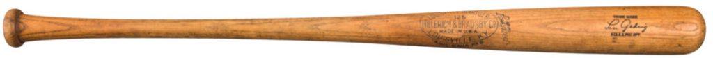 Lou Gehrig last home run bat 1939