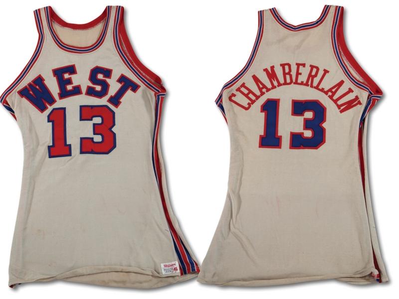 Wilt Chamberlain 1971 NBA All Star Game jersey