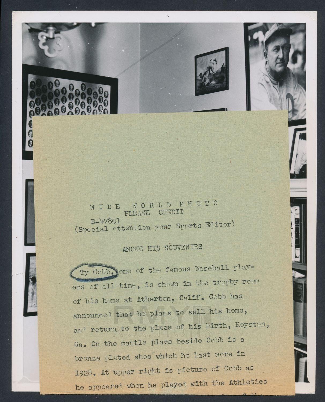 1957 Ty Cobb photo