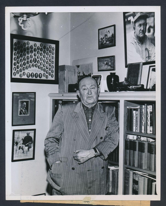 1957 photo Ty Cobb memorabilia room