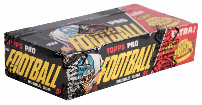 Topps 1966 football unopened box